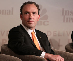 CNBC EVENTS -- CNBC Institutional Investor Delivering Alpha Conference -- Pictured: Kyle Bass at the CNBC Institutional Investor Delivering Alpha conference on September 14, 2011 in New York City -- Photo by: Heidi Gutman/CNBC
