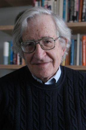 Professor Noam Chomsky of Linguistics and Philosophy. photo: Donna Coveney/MIT