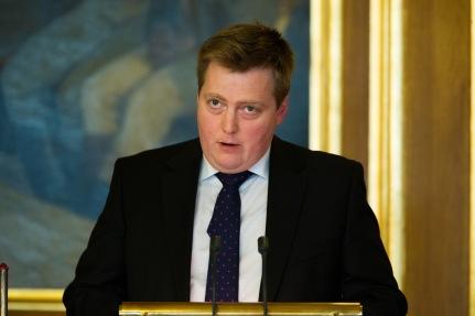 20131029 Islands statsminister Sigmundur Davíð Gunnlaugsson vid Nordiska rådets session i Oslo. Foto: Magnus Fröderberg/norden.org