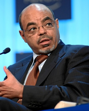DAVOS/SWITZERLAND, 26JAN12 - Meles Zenawi, Prime Minister of Ethiopia speaks during the session 'Africa -- From Transition to Transformationy' at the Annual Meeting 2012 of the World Economic Forum at the congress centre in Davos, Switzerland, January 26, 2012. Copyright by World Economic Forum swiss-image.ch/Photo by Monika Flueckiger