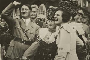 Adolf-Hitler-and-filmmaker-Leni-Riefenstahl-with-joyous-smiles