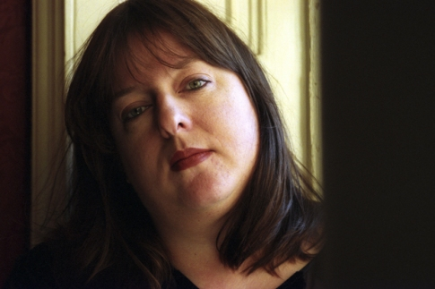 Writer Julie Burchill photographed at the Sussex Arts Centre in Brighton, UK, 9th February 1999. (Photo by Andrew Hasson/Photoshot/Getty Images)